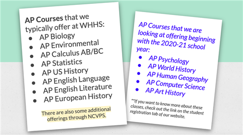 AP Courses offered
