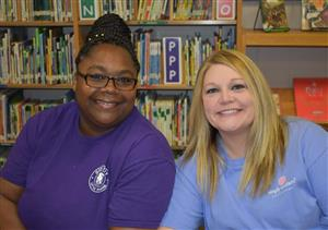 Pictured Left; Mrs. Hicks, Right; Mrs. Parker